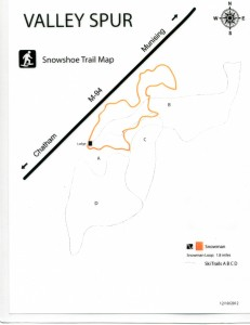 valley spur snowshoe trail