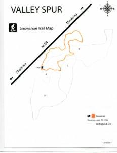 valley spur snowshoe trail